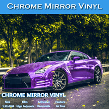 5FTx65.6FT C5537 Purple Chrome Mirror Air Free Bubble Car Wrapping Foil