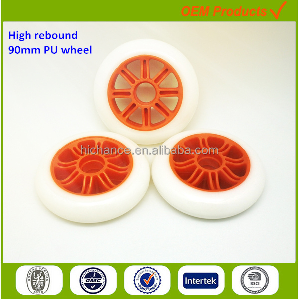 90mm PU wheels for baby stroller accessories