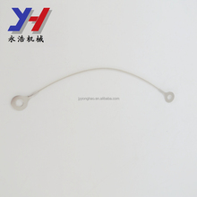 OEM customized hanging stainless steel wire rope with Silicone Case for led light