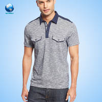 Cotton fabric print embroidery polo shirt man/dri fit polo t-shirt wholesale