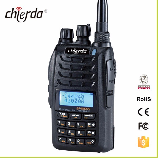 Chierda Amateur Radio Handheld Dual Band Double PTT GP-6688UV China TWO way radio