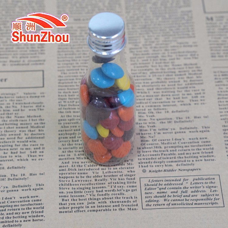 45g small cola bottle colorful sweet coated big crispy chocolate beans candy