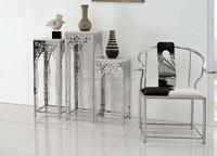 stainless steel Vase Display Table Arrangement