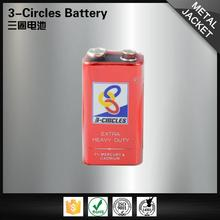 High capacity wholesale leakproof 6f22 carbon zinc 9v aaa dry cell battery