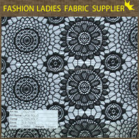 hot sales 100 polyester lace fabric solid for ladies' wear solid fashion wear new york wholesale fabric lace
