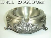 Portable Pewter Metal Pocket Ashtray