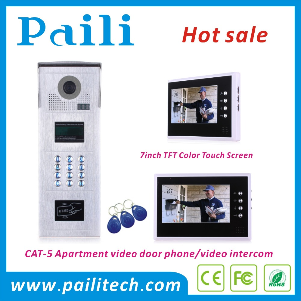 Multi apartments video door phone video intercom door station with keypad