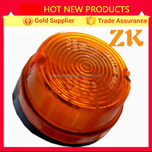 Round small 21w 8w amber plastic semi truck tail lamp tail light
