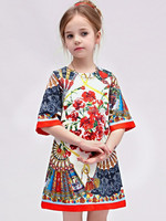 Beauty fashion Spain design kid clothes beautiful girl lace dress for autumn baby princess dress retail top quality