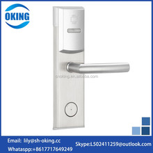 Stainless steel hotel self locking door lock made in china