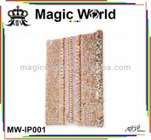Bling pc crystal tablet cover case for ipad