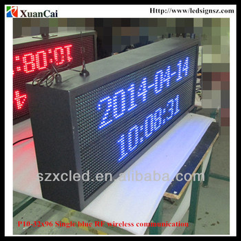 Outdoor P10-32x96 monochrome RF wireless communication LED message display