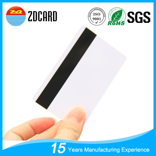 CR80 Standard Credit Card Size 30Mil Thick - Blank Loco 3 Track Magnetic Stripe Card