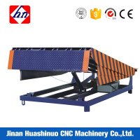 Auto electric adjust height 8T hydraulic container load ramps