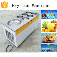 Fried Ice Cream Machine with 6 cold storage barrels