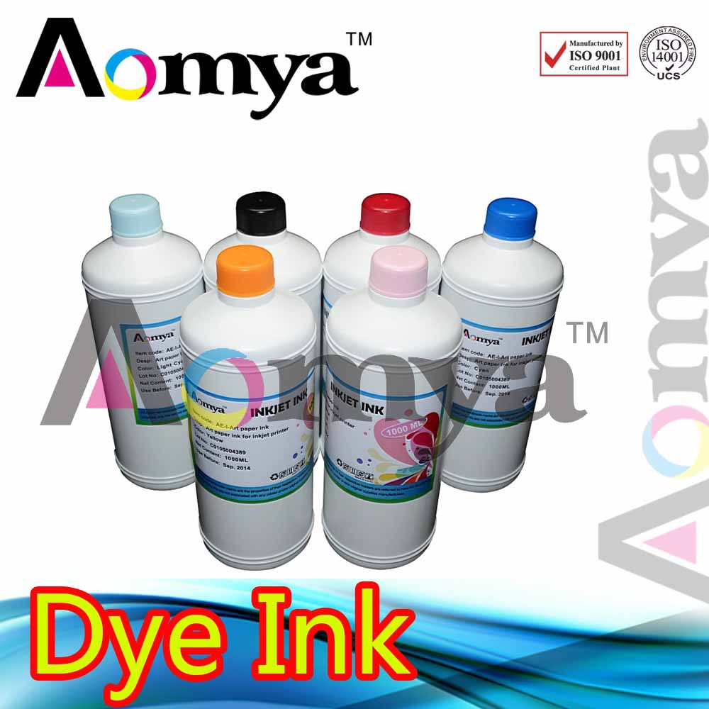Direct factory wholesael!!! Bottle refill ink High quality Dye ink for Epson six colors inject printers. Bulk ink