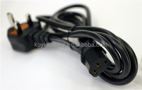 UK 3-Prong power cord IEC BS Power Cable UK Plug Pc Monitor Lead C13 Cord 1.5m,1.8m