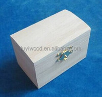China decorative small wooden handmade treasure chest