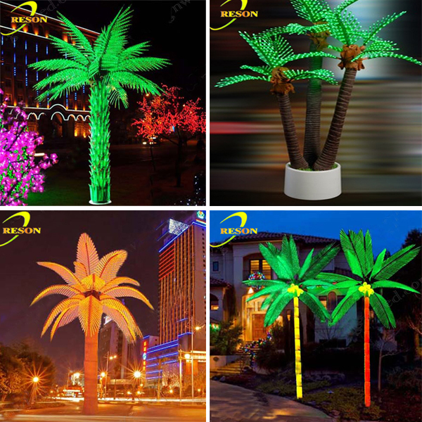 Clear acrylic christmas ornament led palm trees