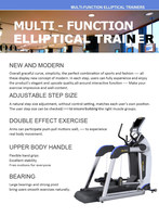 New Multi Function Elliptical Trainer /Fitness Machine