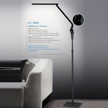 Adjust brightness/color temperature foldable LED lamp with USB port side emitting floor lamp