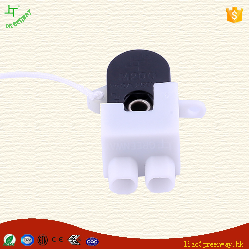 ETL Approval 3A 125V Mini Touch Switch M200 Pull Cord Switch for Indoors Lighting Accessory