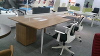 Guangzhou top office furniture factory MFC melamine office table office cubicles