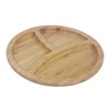 Round Party Dinner Plates bamboo fruit plate serving tray