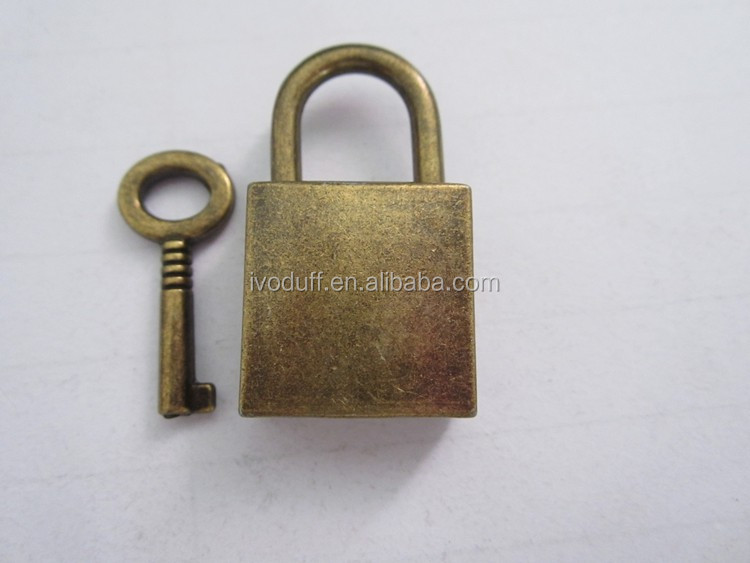 Cheapst Metal Brass Mini Diary Padlock And Key