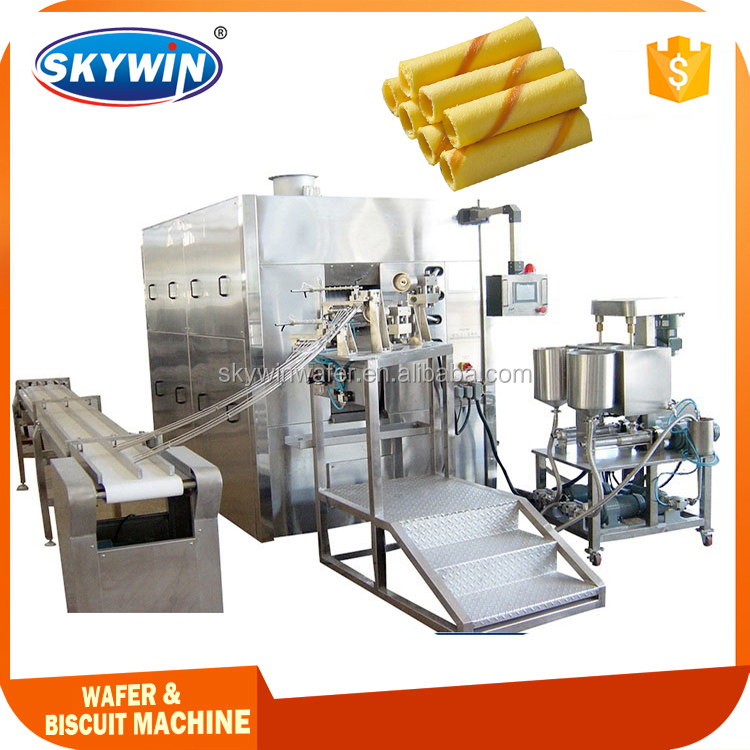 Skywin Brand Multi-function Automatic Wafer Stick Making Machine In Snack Food Machinery