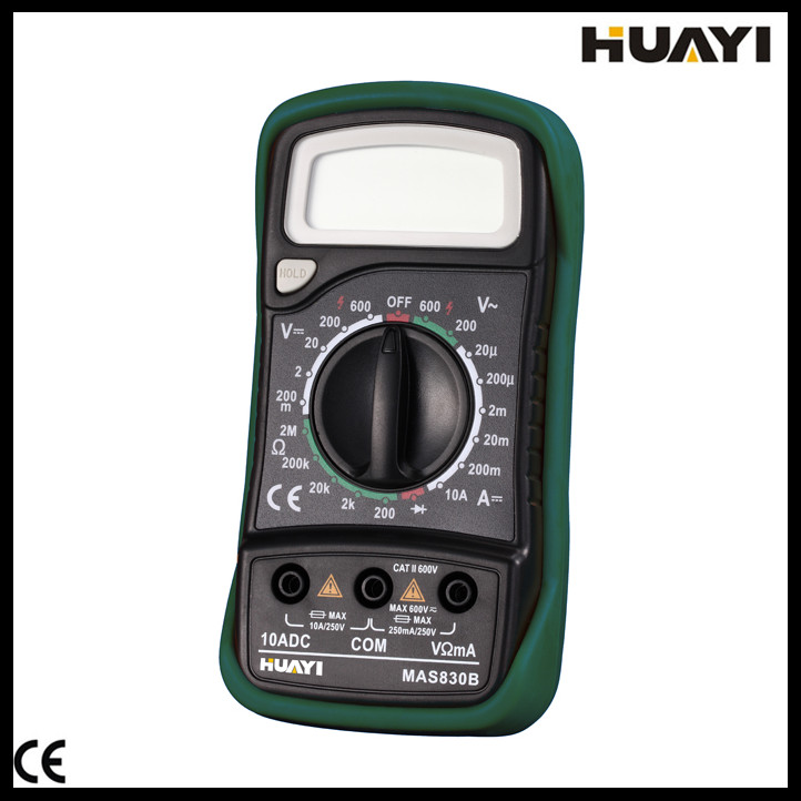 2000 Counts digital multimeter of pocket size MAS830B with LCD display