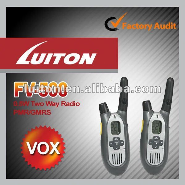 Luiton fv-500 0.5w walkie talkie with frs/gmrs