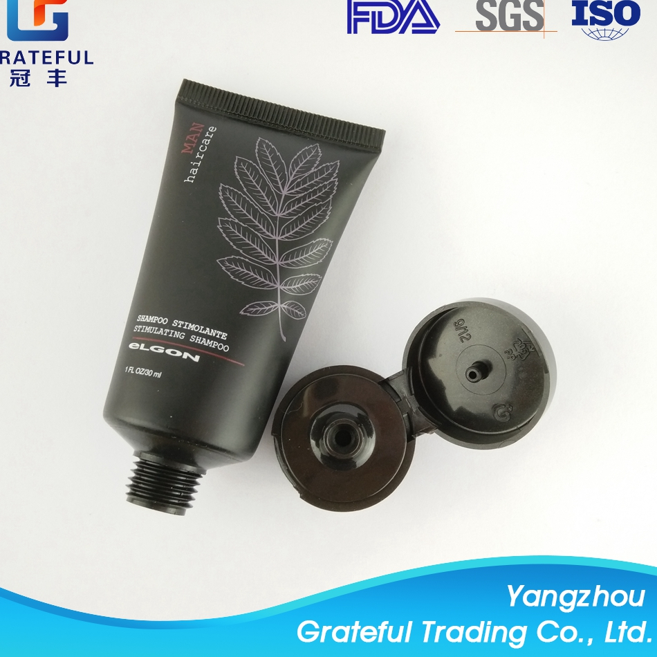 New design big hair cream special for man plastic packaging asian black tube