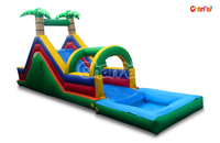 Commercial used inflatable water slide for sale, giant inflatable water slide pool