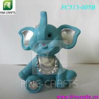 Resin sitting elephant figurine family decoration