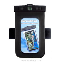 Hot New Products for iPhone 5 Mobile Phone PVC Waterproof Bag With Compass, Waterproof Pouch with Armband for Swimming