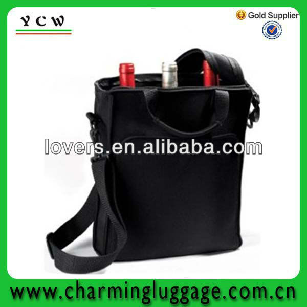 neoprene two bottle bag/ice bag for wine