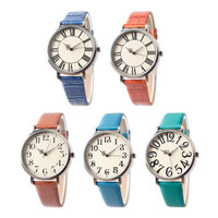 Fashion lady watch with leather band and alloy case nice gift for lady