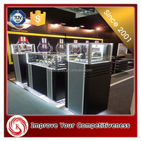 2015 KSL. the most famous Commercial clear acrylic glass mdf wood watch shop display shelf/ display stand showcase counter