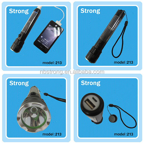 Most useful desert camping energy solar flashlight torch cheap