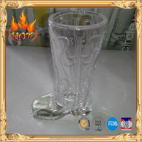 High quality sublimation boot shape shot glass with natural cheap shot glassware