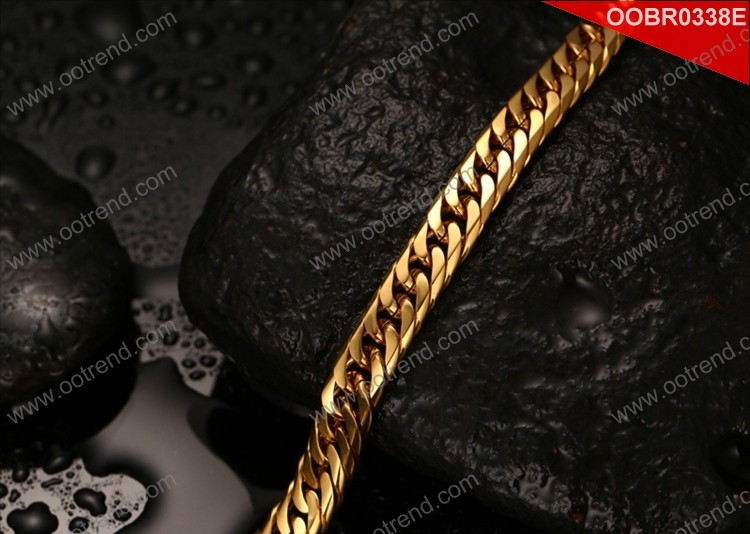 2017 made in china rose gold stainless steel chain jewelry bracelet
