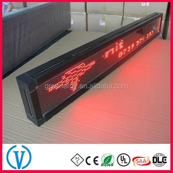 Slim body display pitch 5mm single red/blue/green/white color p10 led display