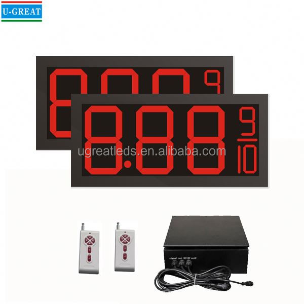Made in china RF remote control IP65 waterproof 7 segment led sign screen