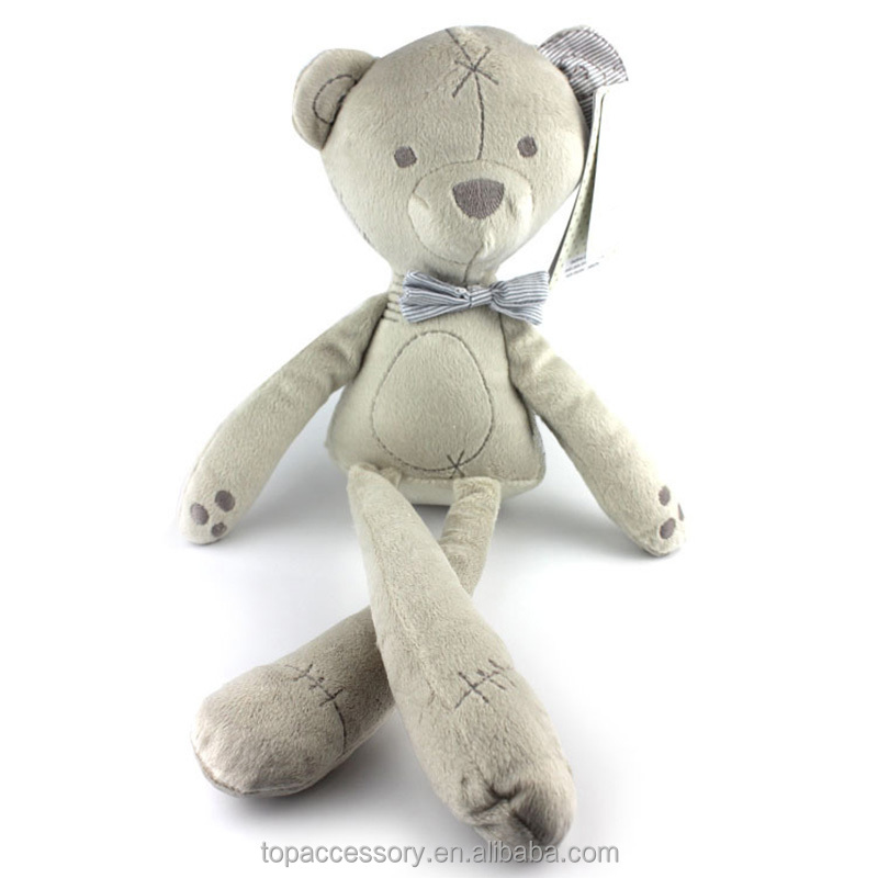 TTY6902-6 Baby Plush Bear Comfortable Plush Pillow Toys Smooth Obedient Baby Bedding Sleeping Stuffed Plush Animals