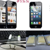0.1USD Wholesale For iPhone 5 5S 5C HD Clear Screen Protector