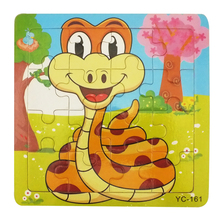 Wholesale kids games animal Small wooden snake puzzle
