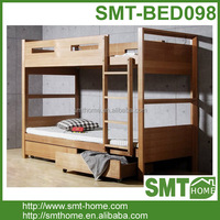 High Quality Simple MDF Child Natural Wooden Folding Bunk Beds