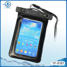 china supplier pvc waterproof cellphone bag for camping swimming boating