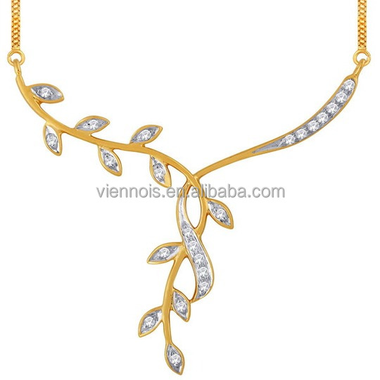 Dubai 18K Gold Plated Necklace Jewelries 925 Sterling Silver Necklace Beautiful Jewelry Necklace